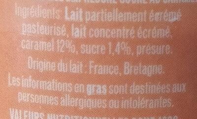 Emprésuré Caramel - Ingredients - fr