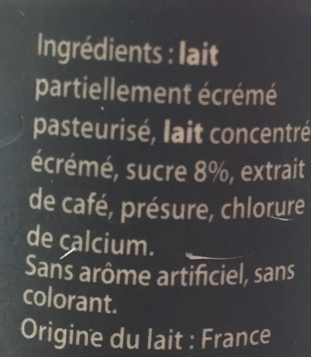 L'Emprésuré saveur Café - Ingrédients - fr
