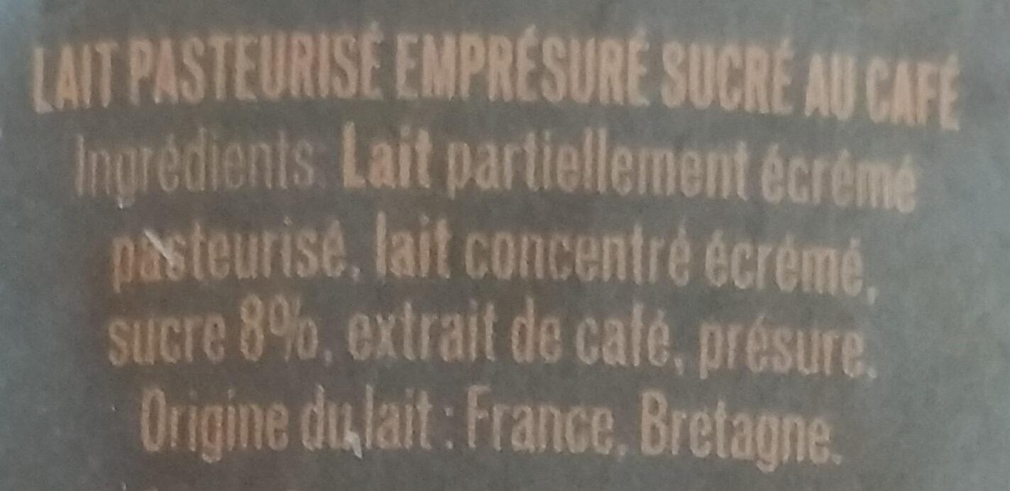 L'Emprésuré saveur Café - Ingredients - fr