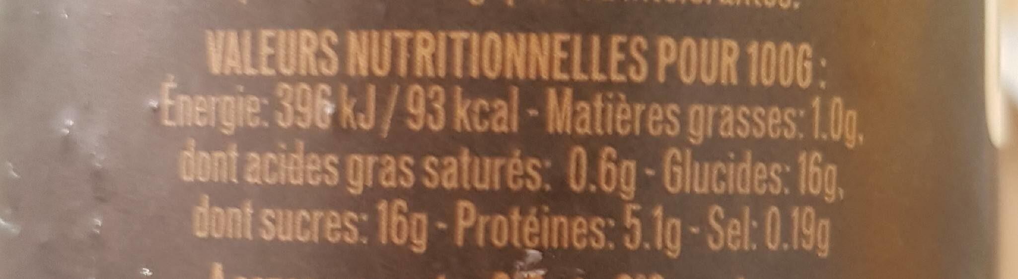 L'Emprésuré saveur Café - Nutrition facts - fr