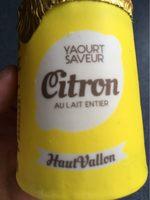 Yaourt saveur citron au lait entier - Produit