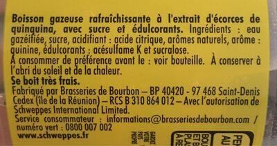 SChweppes Tonic - Ingrédients - fr