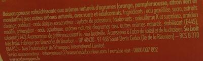 Schweppes Agrum' 1, 5l - Ingrediënten