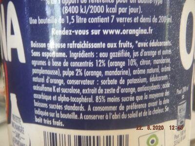 Orangina Light - Ingredients - fr