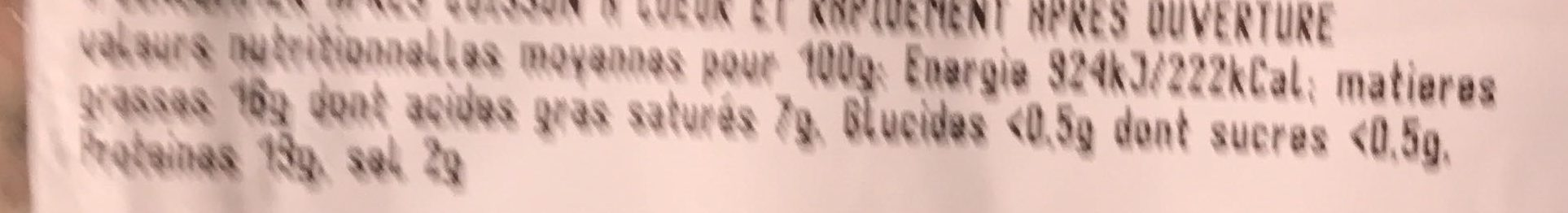 Andouillettes Grillées aux Herbes - Nutrition facts - fr