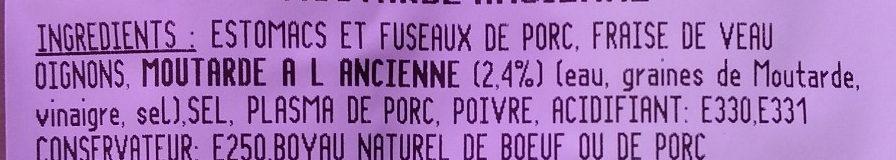 Andouillettes Grill Moutarde à l'Ancienne - Ingrediënten