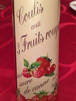 160G Coulis Fruits Rouges Guepratte - Nutrition facts