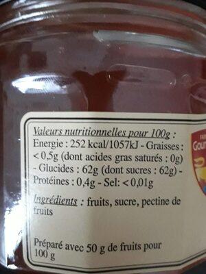 Gelée de Pommes - Nutrition facts - fr