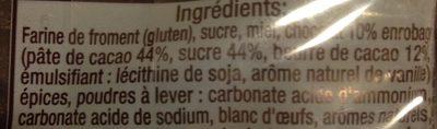 Pains d'Épices, Langues Chocolatées - Ingredients
