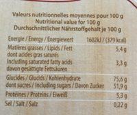 Délicieux mélange de pains d'épices - Voedingswaarden - fr