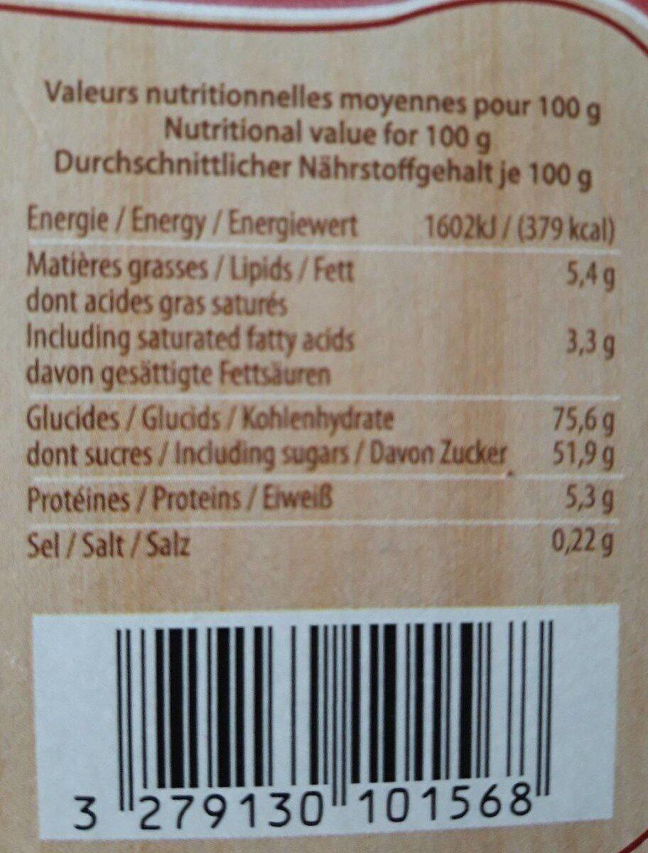 Délicieux mélange de pains d'épices - Informations nutritionnelles - fr