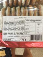 Petites Fines - Ingrediënten - fr