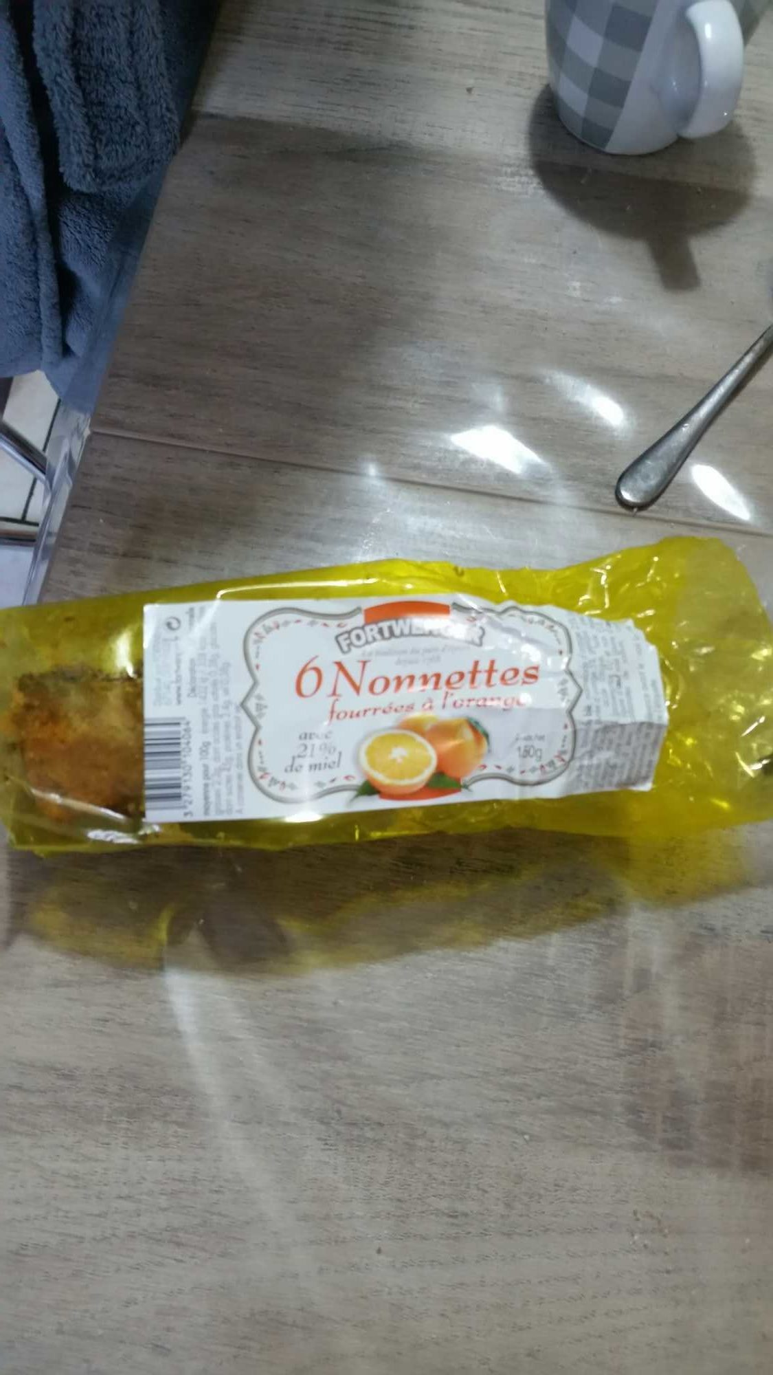 6 nonnettes fourées à l'orange - Product