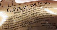 Gâteau de Noël - Ingrediënten - fr