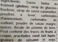 Pain d'épices glacé. (enrobés de sucre glace cacaoté) - Ingredients