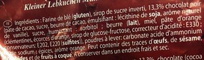 P'tit Bonhomme en Pain d'épice - Ingrédients - fr