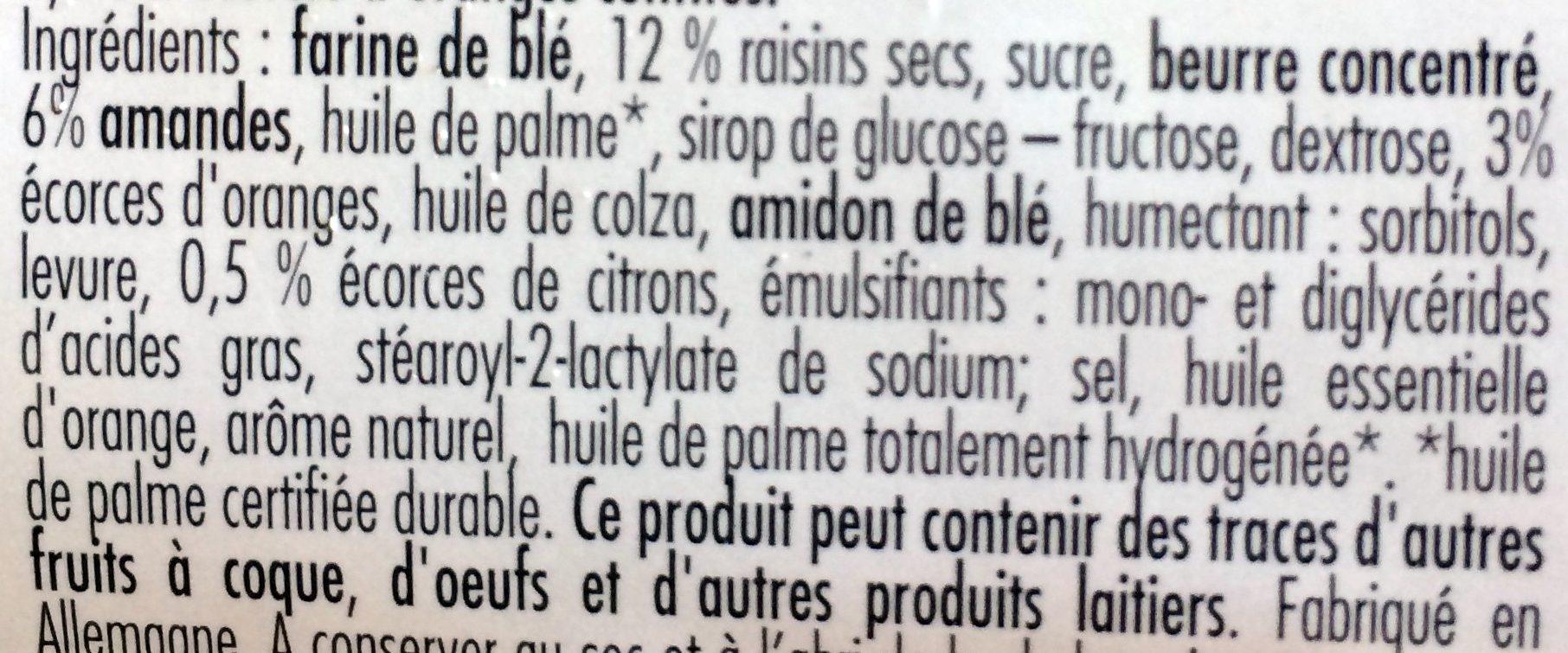 Stollen à l'Orange - Ingrediënten - fr