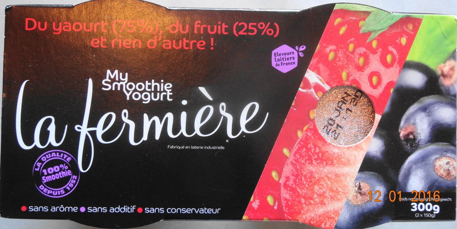 My smoothie Yogurt, fraise-cassis - Product - fr