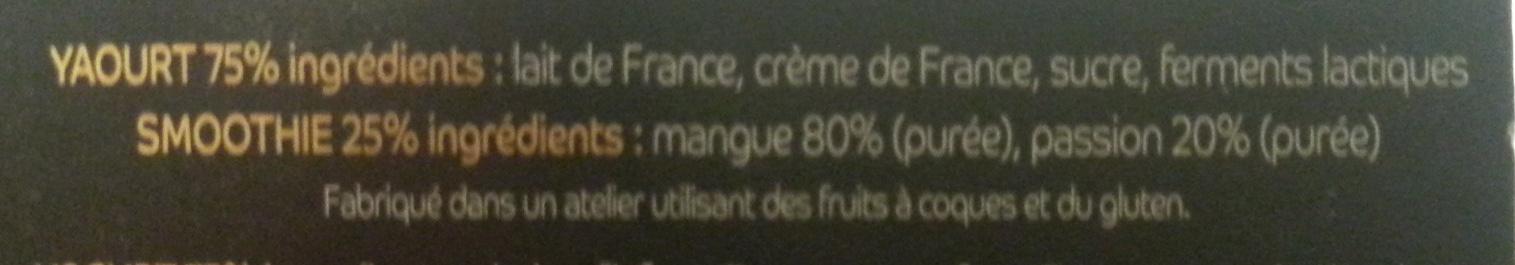 My Smoothie Yogurt, Mangue-Passion - Ingrediënten - fr