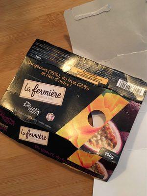 My Smoothie Yogurt, Mangue-Passion - Voedingswaarden - fr