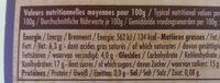 140G Yaoury Bicouche Mure / Myrtille La Fermiere - Nutrition facts - fr