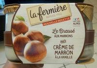 Le yaourt aux fruits, marron - Product