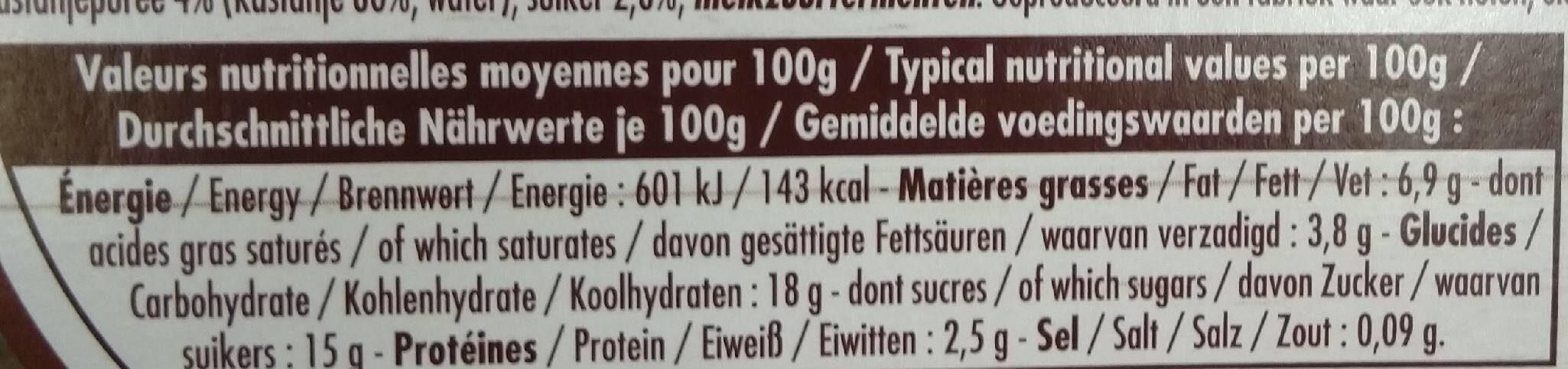 Yaourt bicouche MARRON - Valori nutrizionali - fr