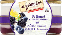Yaourt bicouche mûre myrtille - Product - fr