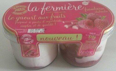 Yaourt aux fruits : framboise rhubarbe - Produit - fr