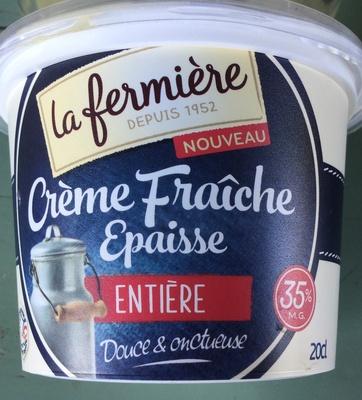 Crème fraîche epaisse entière - Produit