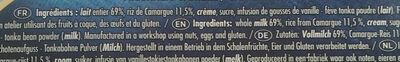 Riz au Lait Vanille - Ingrédients - fr