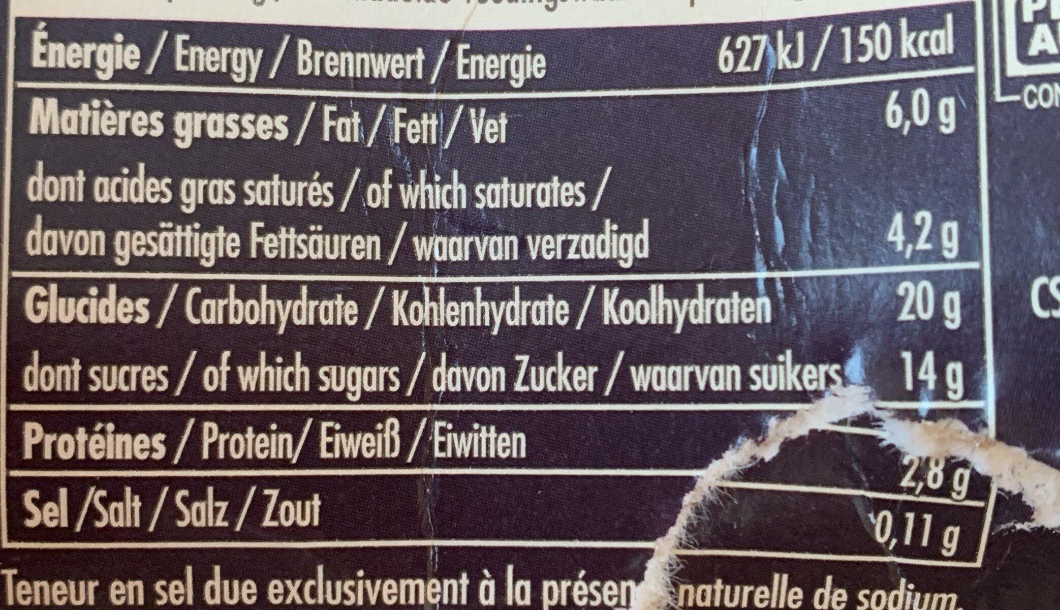 Riz au Lait Vanille - Informations nutritionnelles - fr