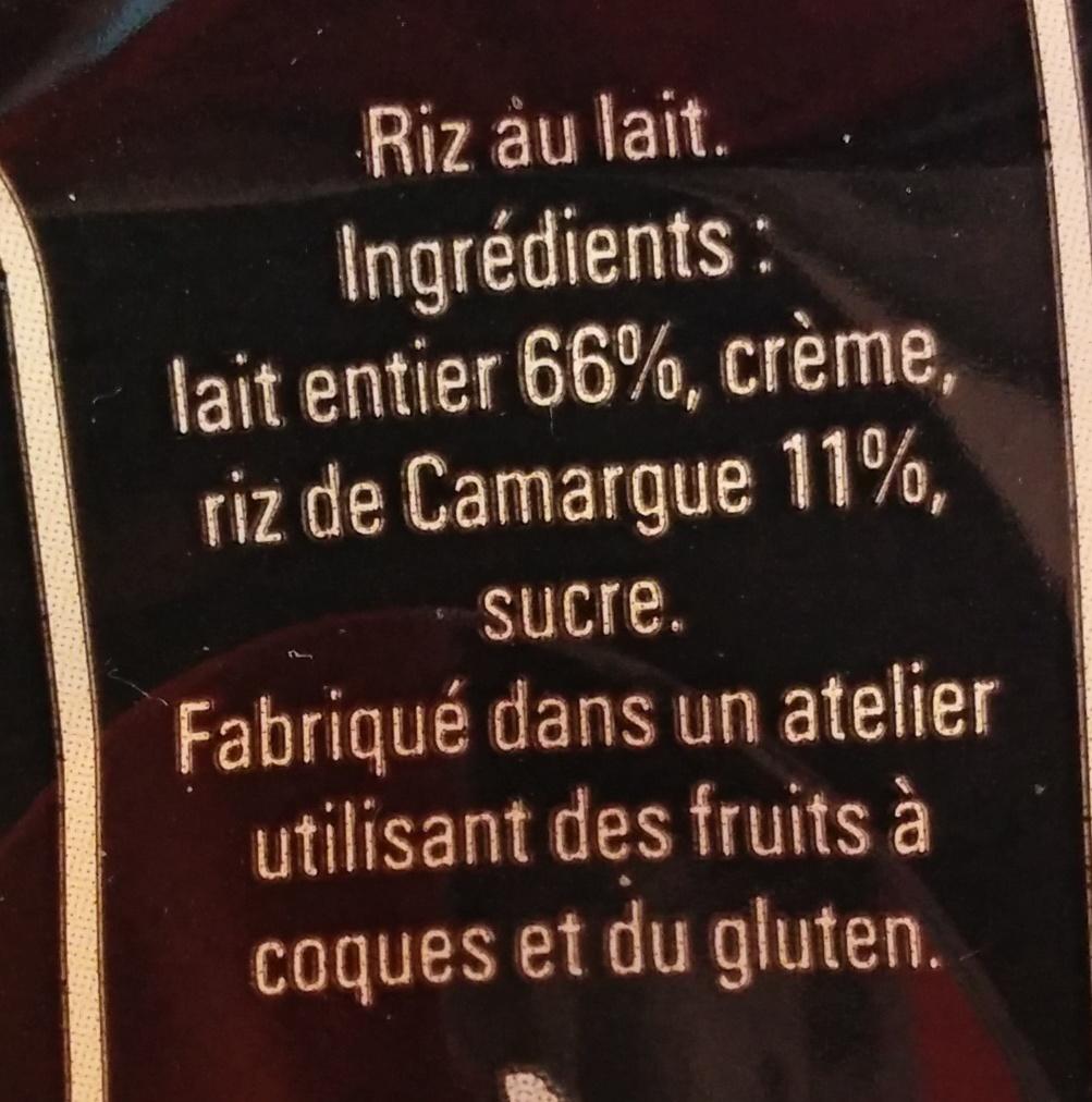 Le Riz au Lait au riz de Camargue - Ingrédients - fr