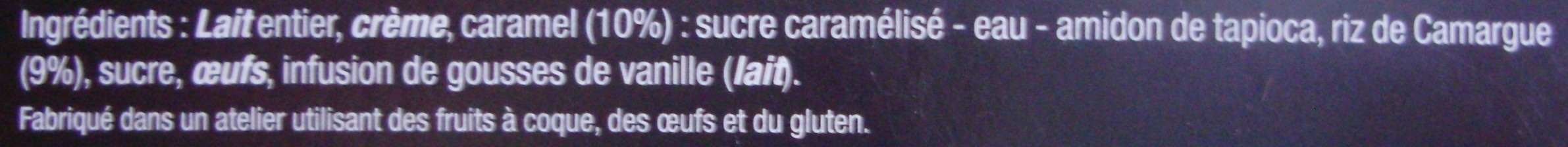 Le gâteau de riz - Ingrédients - fr