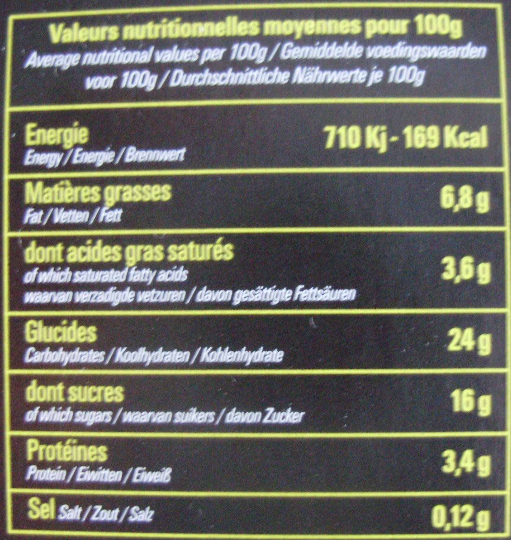Le gâteau de riz - Informations nutritionnelles - fr