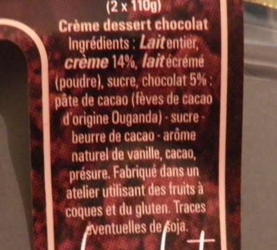 La fermière Chocolat - Ingredients
