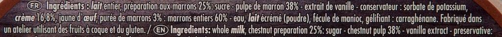 Le Pot de Crème aux Marrons - Ingrédients - fr