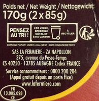La Mousse au Chocolat Noir Pérou - Recycling instructions and/or packaging information - fr