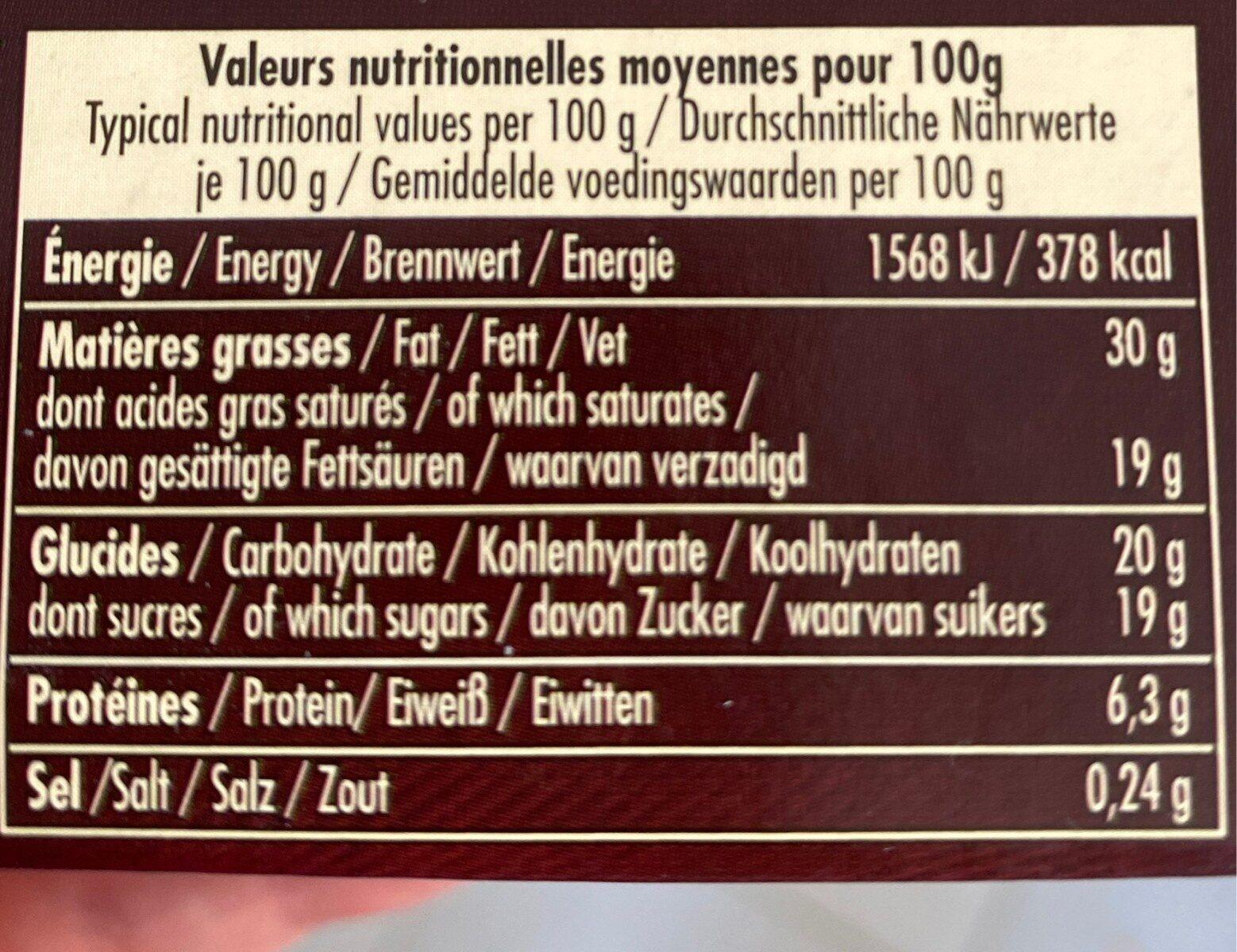 Mousse au chocolat au lait - Voedingswaarden - fr