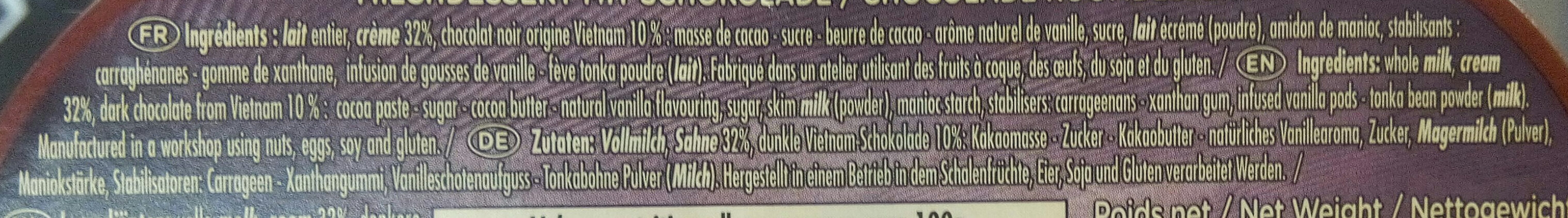 Le Liégeois au Chocolat - Ingrediënten - fr