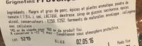 Grignotins provencal - Ingrédients