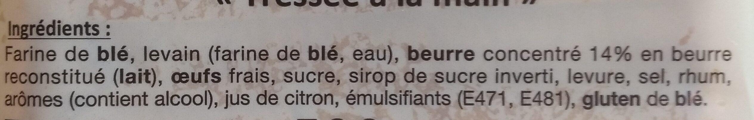 Brioche pur beurre - Ingredienti - fr