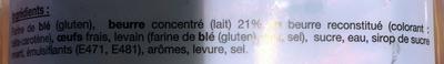 Pur beurre - Ingrédients - fr