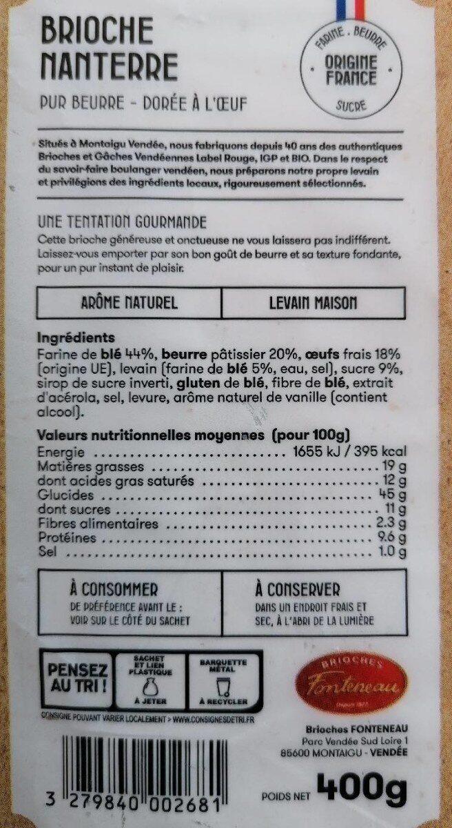 Pur beurre - Informations nutritionnelles - fr