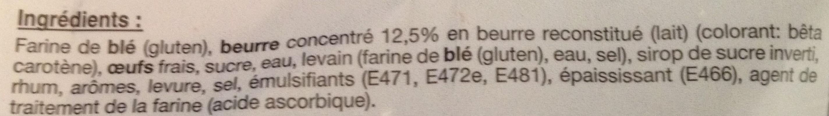 """Brioche plate pur beurre """"Tressée à la main"""" - Ingredients - fr"""