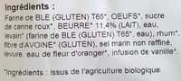 PUR BEURRE (Brioche tranchée biologique pur beurre Biocoop) - Ingredients - fr