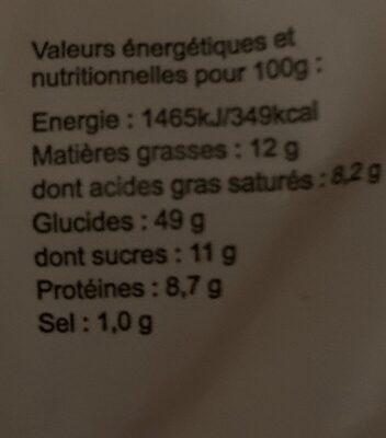 PUR BEURRE (Brioche tranchée biologique pur beurre Biocoop) - Nutrition facts - fr