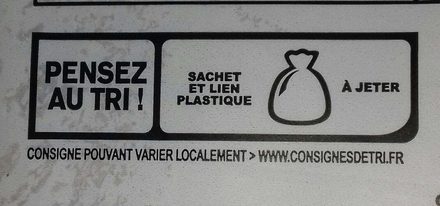 Brioche tranchée bio - Istruzioni per il riciclaggio e/o informazioni sull'imballaggio - fr