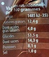 La Couronne des Rois Briochée aux Pépites de Chocolat - Nutrition facts
