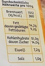 Gâche Original französische - Nutrition facts